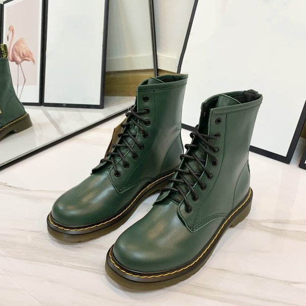 Designers in the autumn and winter of 2019 are cheap boots, Martin boots, fashion luxury black / red / green 3 colors. Size: 35-40