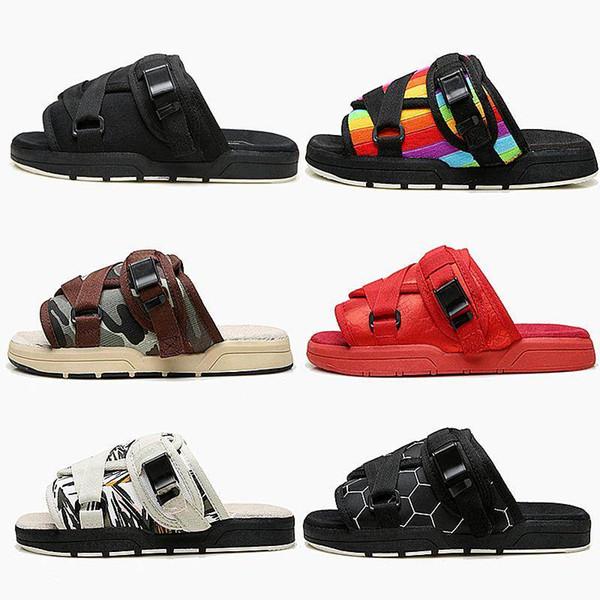 Nueva marca Visvim Zapatillas Zapatos de moda Hombre y mujer Amantes Zapatos casuales Zapatillas Sandalias de playa Zapatillas al aire libre Hip-hop Street Sandalias