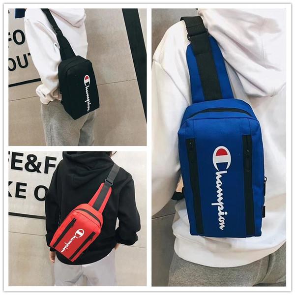Şampiyonu Mektup Messenger Çanta tasarımcı lüks Omuz Sırt Çantası Oxford kumaş Çift Fermuar Fannypack Bel Çantaları Spor Seyahat çanta B3292