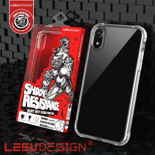 LEEU DESIGN luxury anti shock TPU clear cell phone case cover for iphone xr xs max x 8 7 6 6s plus samsung galaxry s9 s10 plus mate p30 pro