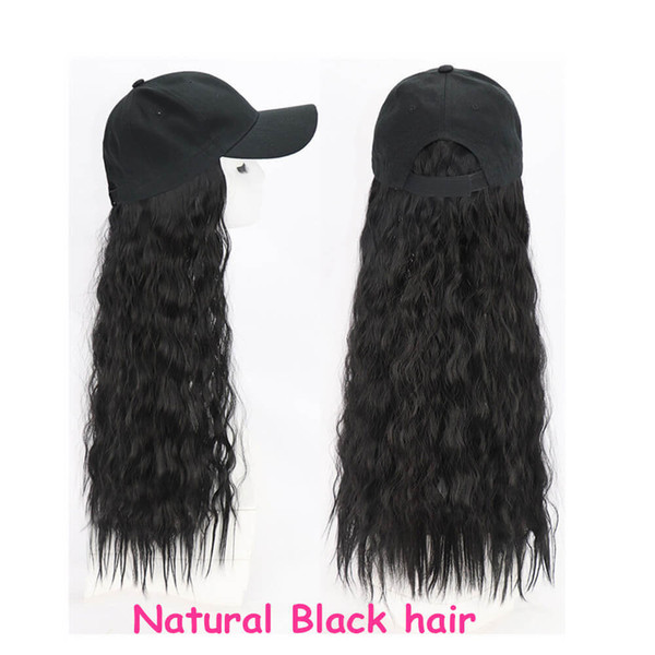 Baseball hat Natural black curly hair