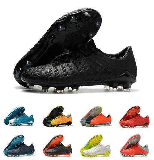 Hot Sale Hypervenom Phantom III DF FG Soccer Shoes Outdoor Hypervenom ACC Socks Soccer Cleats Low Ankle Football Boots 39-45