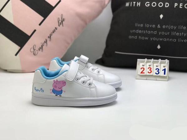 new style 00506 ba1ab Großhandel Kindkinderbaby Liebes Schuh Für Jungenmädchen Haken Schleife  Rosafarbenes Blaues Stan Smith Baby Beiläufige Schuhe  Geburtstagsgeschenkgröße ...