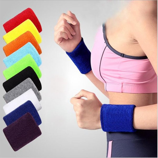 Multi Colors Cotton Made Elastic Wrist Support Protective Safety Bracers Sweatbands Sporting Outdoor Accessory For Gym Volleyball Basketball