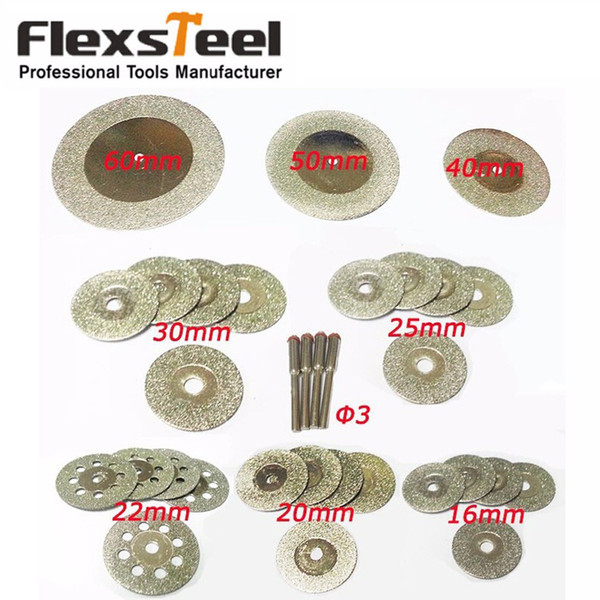 ools Saw Blade 32 Pieces Diamond Cutting Discs Mini Wheel Saw Blade 16 20 22 25 30 40 50 60MM Dremel Rotary Tools for Glass Stone 4pcs Ma...