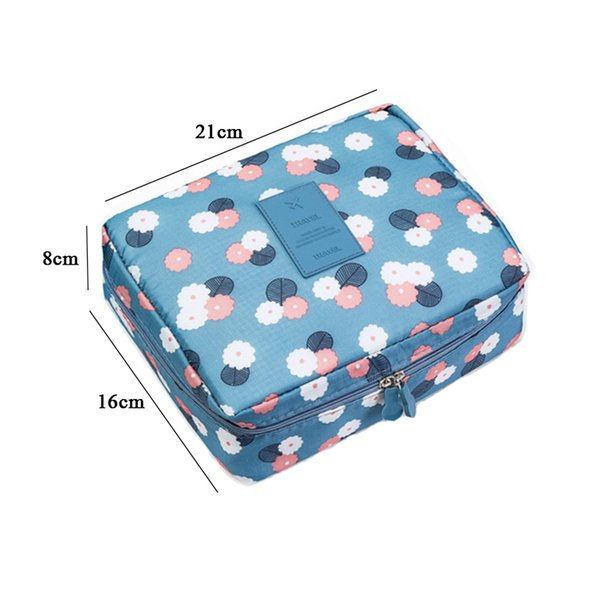 Women Makeup Bag Cosmetic Case Make Up Organizer Toiletry Storage Floral Nylon Zipper New Travel Wash Pouch