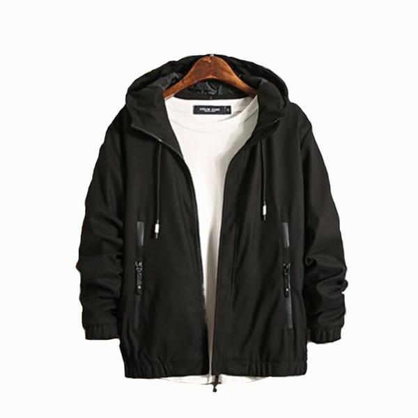 New Mens Autunno Inverno Giacche Warm Zipper Coat Patchwork e Stripe Design Moda Bomber Kurtka vestiti coreano 50JK045
