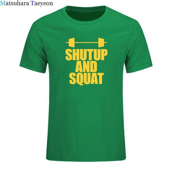 825a3ee3 2019 mens designer t shirts Shut Up And Squat T-Shirt 100% Cotton Summer