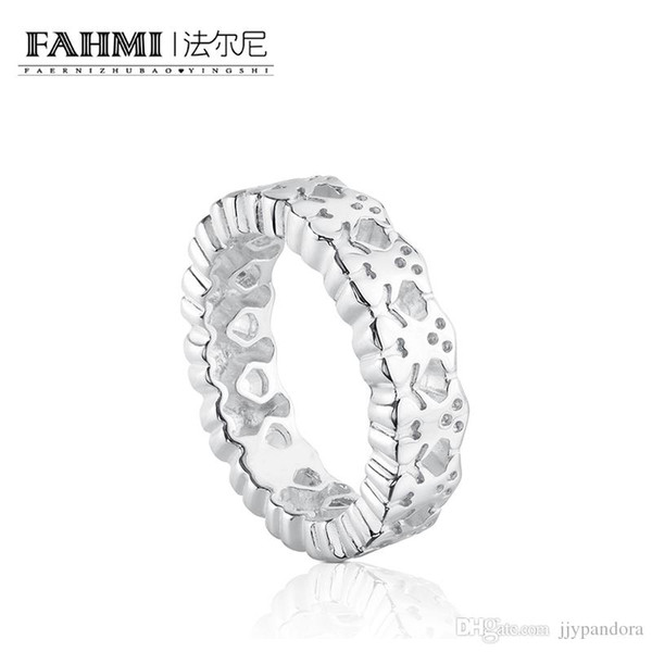 FAHMI 100% 925 Sterling Silver Romance Modern Ring Temperament Married Couple Foundation 615270030 Original Jewelry Gift