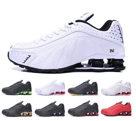 2019 shox r4 мужчины женщины кроссовки высшего качества NEYMAR OG COMET RED BLUE Черный металлик мужские кроссовки модные спортивные кроссовки дизайнер обуви