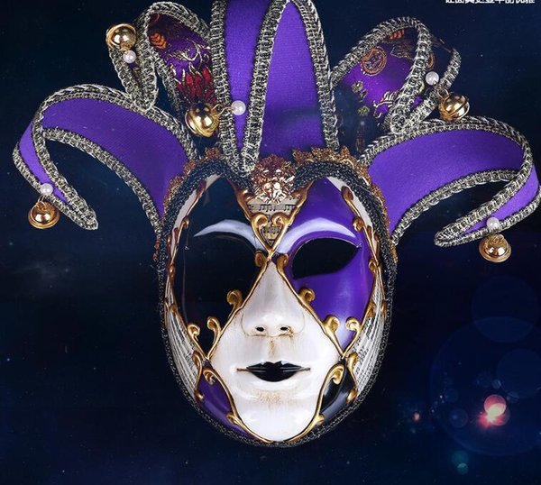 2019 Women Holloween Party Feather Flower Masks Masquerade Ball Party Mask Painted Halloween Dance Party Mask Upscale Venice