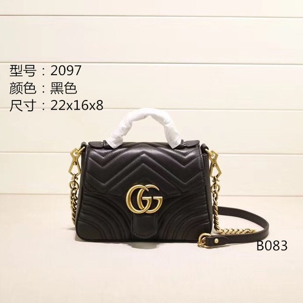 2019 famous designer womens handbag new letter shoulder bag high quality PU leather Messenger bag saddle bag wallets purse drop shipping 86