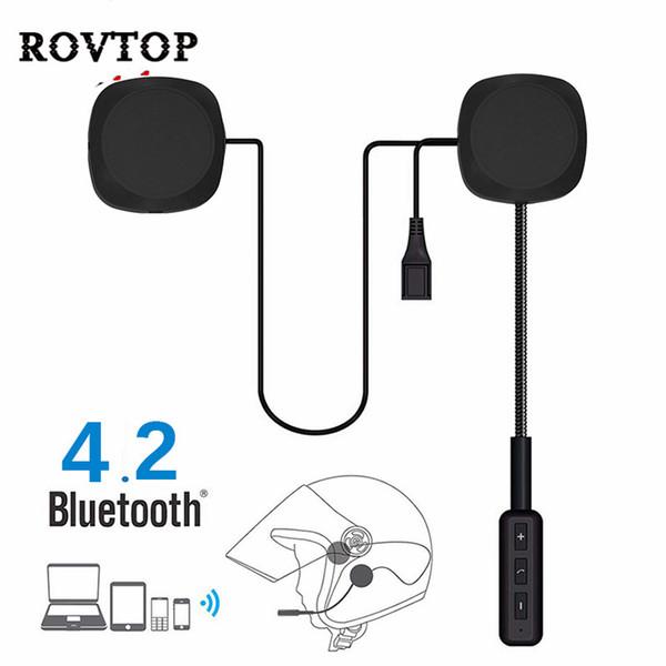 Dual Visor Moto Helmet 4.2 EDR Bluetooth Casque avec Microphone Casque De Vélo Écouteur Mains Libres Haut-Parleur Contrôle D'appel