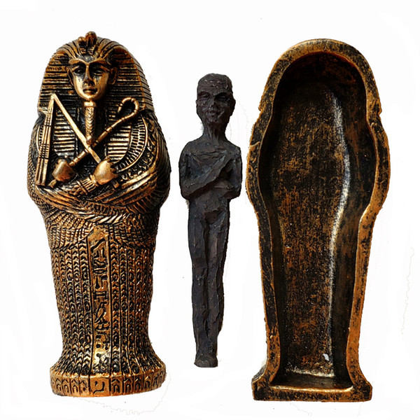 Ancient Egyptian Dry Corpse Coffin Figurine Sculpture Pharaoh Mummy Statue Sand Table Ornaments Miniature Fish Tank Decoration