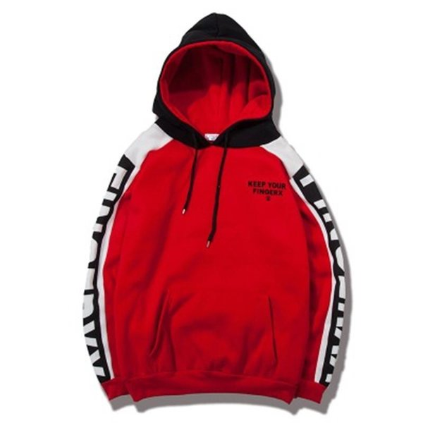 Trend Couple Clothing Mens Hoodies Male Hooded Sweater Men Sports Coat Fashion Red Color Casual Loose Letter Print New Elegant S-3XL