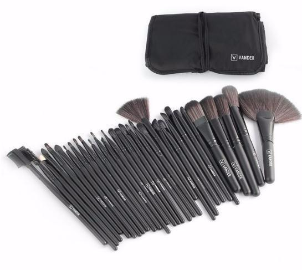 Life 32pcs Makeup Brush Sets Professional Cosmetics Brushes Set Kit + Pouch Bag Case Woman Make Up Tools Maquiagem