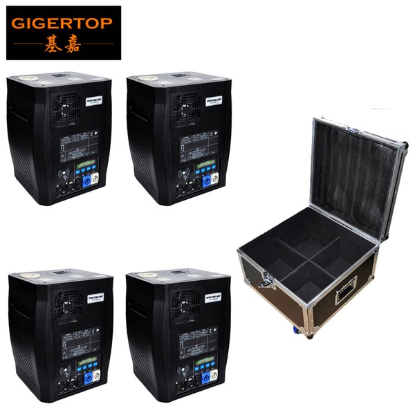 Stackable 4in1 Flight Case Pack China Stage Effect Cold Fireworks Machine DMX512 (wireless optional) No Fire Spark Equipment