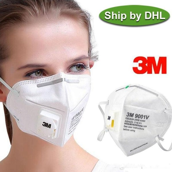 3m n95 mask 9501+ 9502v 9542v 9002v 9001v with respirator valve ffp2 anti-dust dustproof pm2.5 protective face reusable mask fast ship