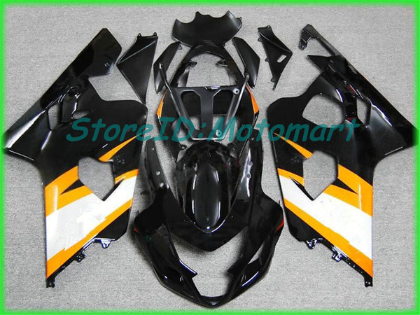 SUZUKI GSXR600 için motosiklet Fairing kiti 750 K4 04 05 GSXR 600 GSXR 750 2004 2005 Kırmızı gümüş siyah Fairings seti SF65