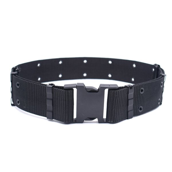 5.5cm Wide Thick Army Belt Men Nylon Tactical Student Training Knitted Heavy Duty Combat Belt Outdoors Male Military Strap 383