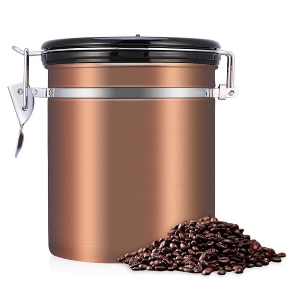 2019 Airtight Coffee Beans Container Storage Canister Set For Coffee Beans  Gound 1.5L Tea Container Metal Tank Kitchen Storage Jar From Yiyu_hg, ...