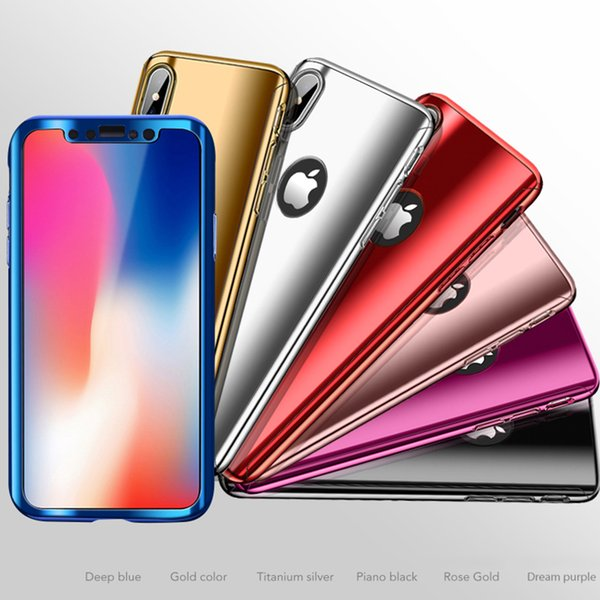 360 degree full coverage Protection Cases with screen protector For iPhone XS Max 8 7 6S Plus For Samsung Galaxy S8 Note8 Note9