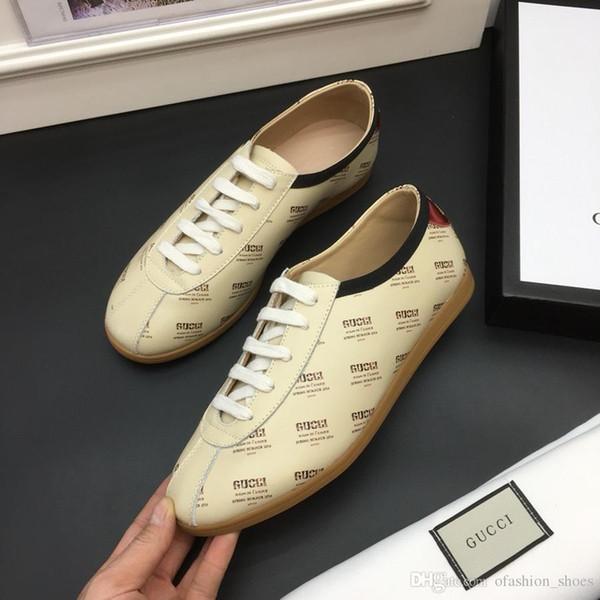 2019 scarpe da ginnastica di qualità superiore Mens Scarpe da ginnastica in pelle di vitello tecnico Homme Moda scarpe da ginnastica Boutique di lusso stile scarpe casual con scatola di marca