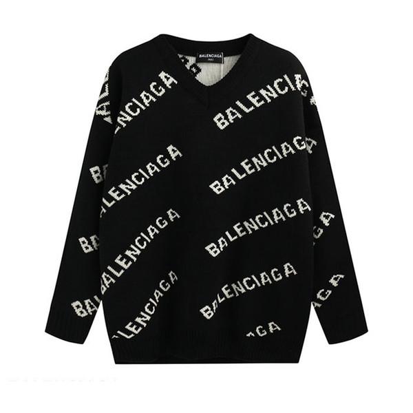 20SS Luxe Pull Mode Hommes Femmes marque design chandail à manches longues Lettre Imprimé Couple Sweaters Taille M-XXL