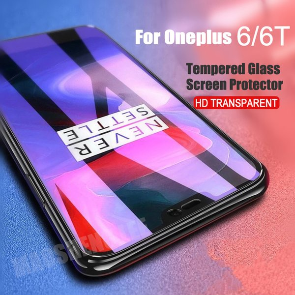 2pcs/lot Full Tempered Glass For Oneplus 6 6T Glass Screen Protector 2.5D 9h tempered For one plus 6 6t Anti Blu-ray