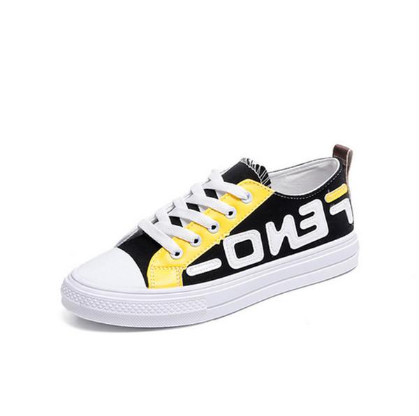 FF moda lüks tasarımcı kadın ayakkabı kız Erkek Çocuk Tuval Ayakkabı Fends Öğrenci Spor Salonu Yaz Tenis Ayakkabı Rahat Sneakers sıcak B73104