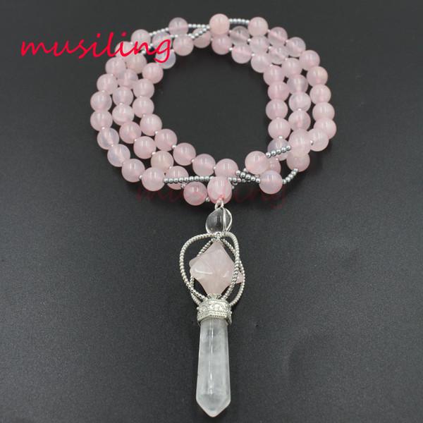 8mm Crystal Ball Beads Necklace Pendants Reiki Pendulum Merkaba Pencil Chakra Amulet Jewelry Accessories Fashion Charms Jewelry For Women