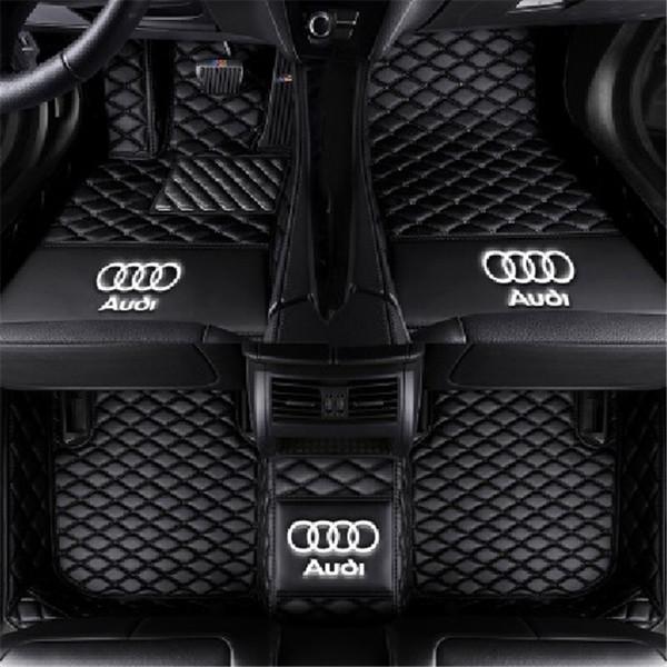 Aplicável para Audi A3 sedan de duas portas 2008-2013 Acelerador montado no chão do carro anti-skid pad tapete interior anti-derrapante almofada de couro não-tóxico pad