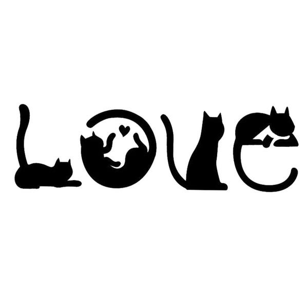 15,2 * 4,8 CM Katzen Zauber LIEBE Mode Kreative Cartoon Auto Aufkleber Windschutzscheibe Dekoratives Decalsa