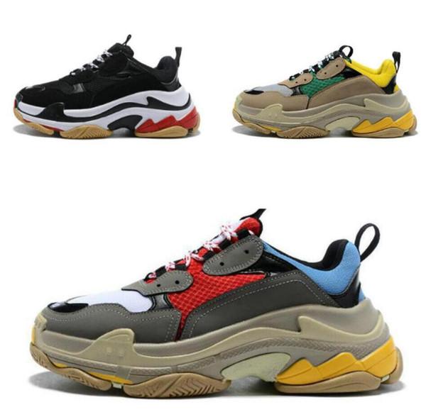 Moda Paris Triple-S qualidade Moda Triplo-S super Grosso Solado Absorção de Choque Sapatilhas Esportes BLSJ008 marca sapatos Atlético