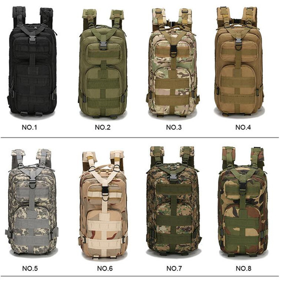 top popular Tactical Backpack Military Backpack Oxford Sport Bag Molle Rucksacks 30L for Camping Climbing Bags Traveling Hiking fishing Bags 2019 2021