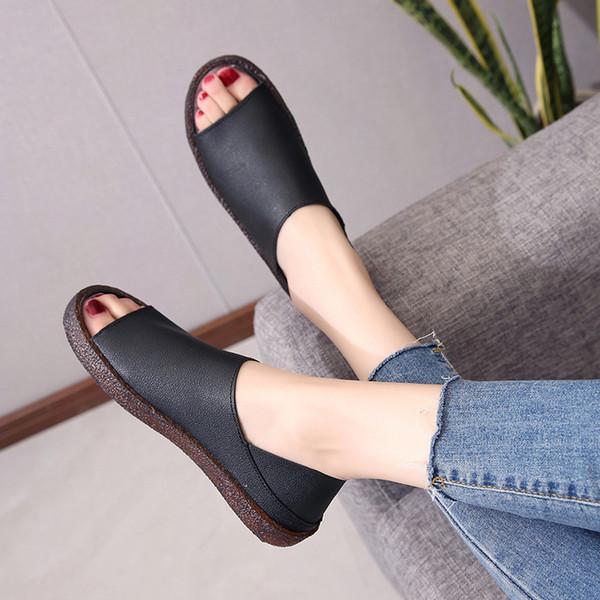 COOTELILI Slip On Flache Schuhe Frauen Gummisohle Strand Sandalen Weibliche Damen Sandalen Hausschuhe Plus Größe Flip-Flops 35-40