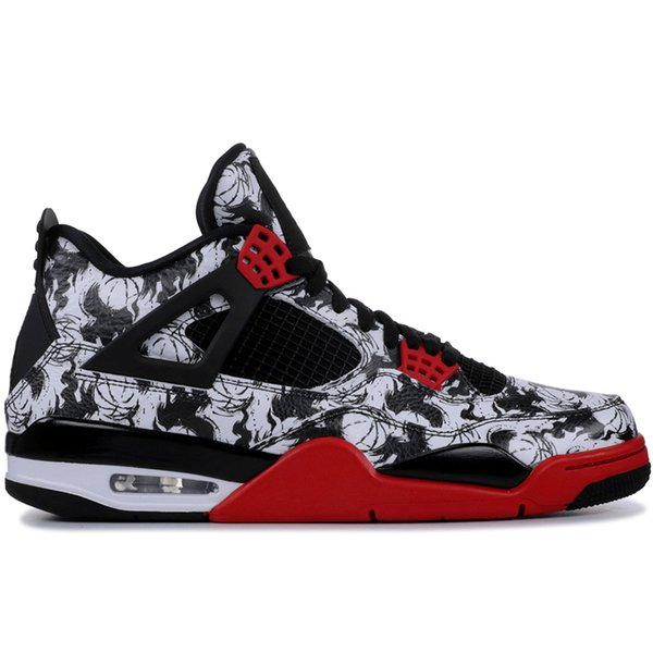 Basketball Shoes 4 4s Men Raptors Pure Money Bred Royalty Black White Cement Fire Toro Bravo Red Sport Sneaker Size 41-47 Free Shipping