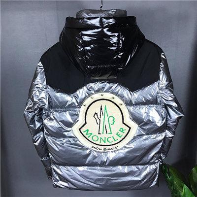 19FW нового роскошного дизайна бренда MC Hooded сращивание большого значок вниз куртка Мужчины Женщина дышащая Мода на открытом воздухе Теплые, ветрозащитные