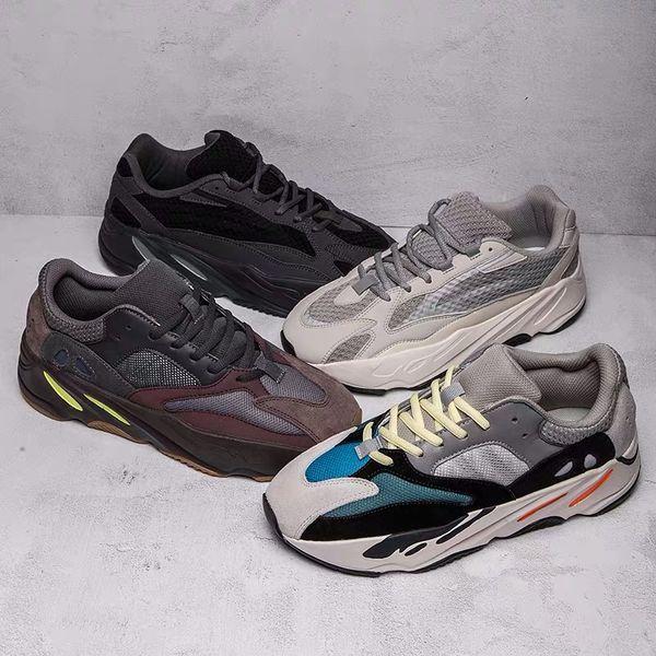 2019 Geode 700 Wave Runner Mauve Yeezy Boost Shoes 700 V2 Static Kanye West Hombre Mujer Deportes Zapatillas de deporte Zapatillas de deporte de diseño Tamaño 36-45