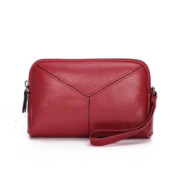 2018 new fashion pu borse in pelle da donna giorno frizione busta busta piccolo organizer lungo cinturino da polso borsa della borsa delle signore del partito