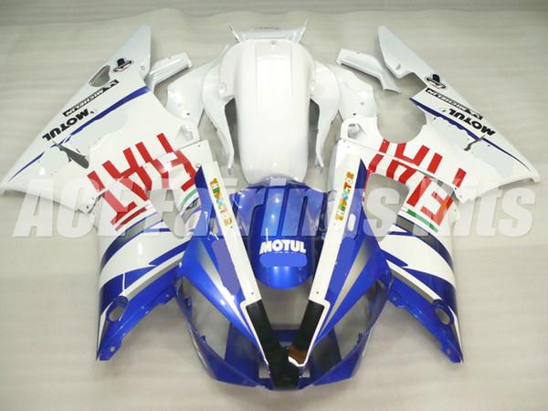 3 подарка высокое качество Новый ABS мотоцикл обтекатели, пригодный для YAMAHA YZF-R1 2000 2001 R1 00 01 yzf1000 комплекты обтекателей пользовательские синий белый FIAT