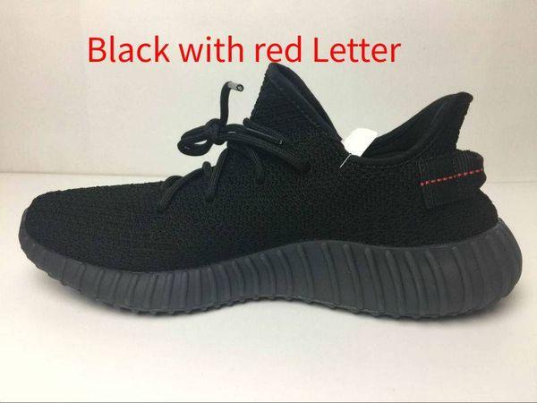 negro con rojo de la letra