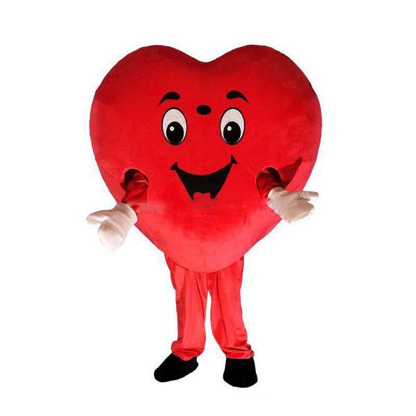 2019 de alta qualidade coração vermelho traje da mascote do amor AMOR coração traje da mascote frete grátis pode adicionar o logotipo