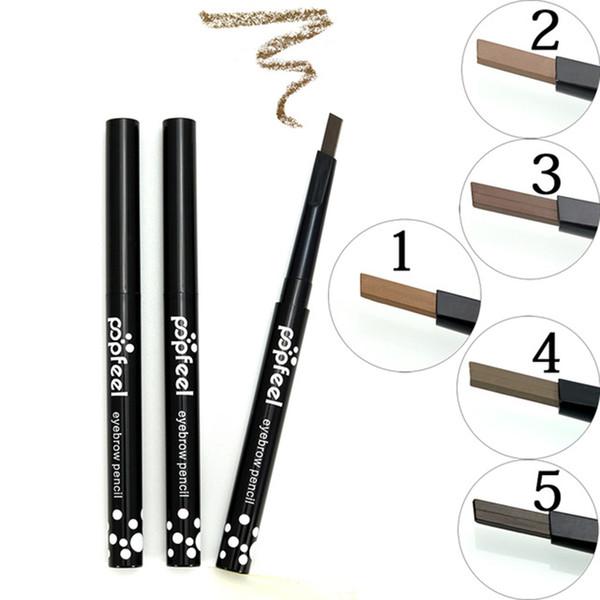 Crayon à sourcils rotatif automatique à une seule tête améliore le tatouage naturel imperméable yeux maquillage maquillage stylo