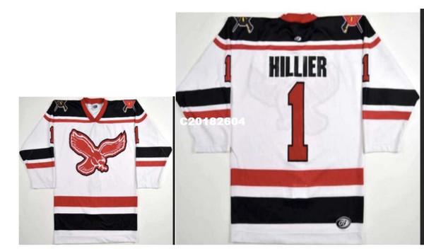 Real Men real bordado completo Personalizado ECHL Wheeling Nailers # 1 Craig Hillier Hockey Jersey o personalizado cualquier nombre o número Hockey Jersey