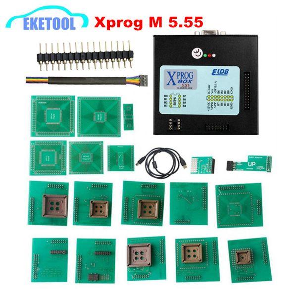 V5.55 XPROG-M Full Adapters Universal Auto ECU Chip Tuning Programming Xprog M 5.55 Metal Box AUTH-0025 Authorized X-PROG