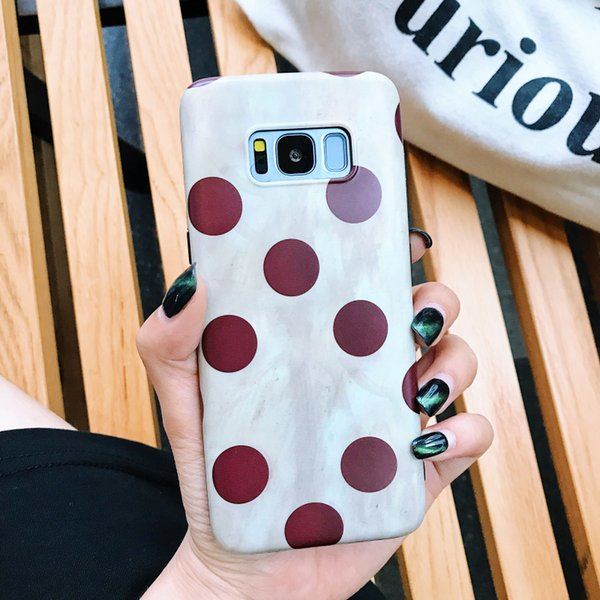 Japan and South Korea retro wave point Samsung S8+ mobile phone shell Note8 net red female protective cover S7edge silicone S9plus