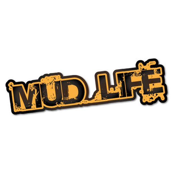 Paper Mud Life Sticker Decals Computer Vinyl Decorative Personality Accessories Car For