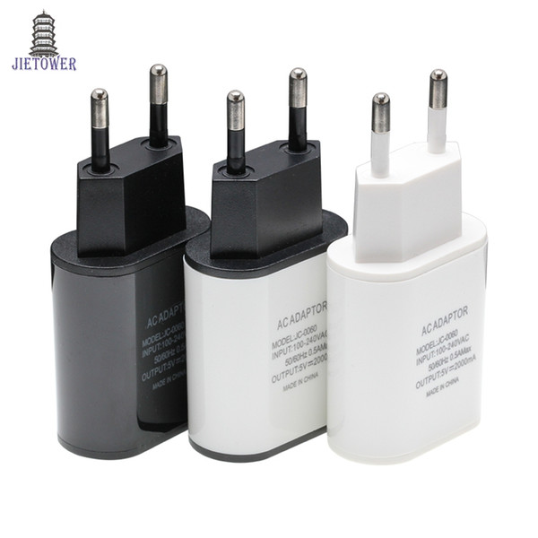 5V 2A USB Charger Travel Wall Fast Charge Adapter Mobile Phone Tablets Charging For iPhone X Samsung Xiaomi EU US Plug Chargers 200pcs