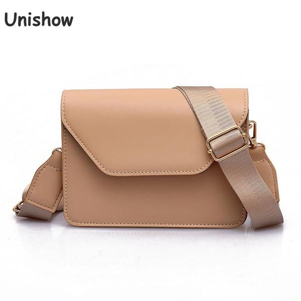 Unishow Women Shoulder Bag  Designer Mini Women Messenger Bags Pu Leather Small Lady Crossbody Bag Solid Casual